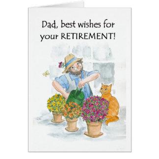 Carte de retraite pour un père - jardinier