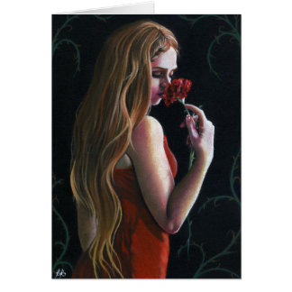 Carte de roses de Carnation Gothic rouge de Madame