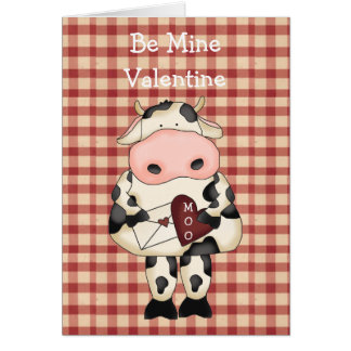 Carte de Saint-Valentin de vache à MOO d'amusement