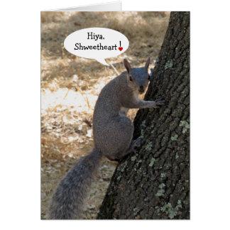 Carte de Saint-Valentin d'écureuil de Shweetheart