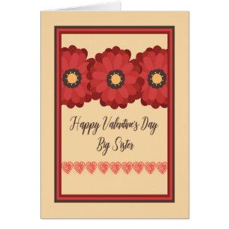 Carte de Saint-Valentin, grande soeur avec des