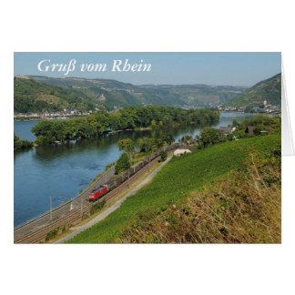 Carte de salutation du Rhin
