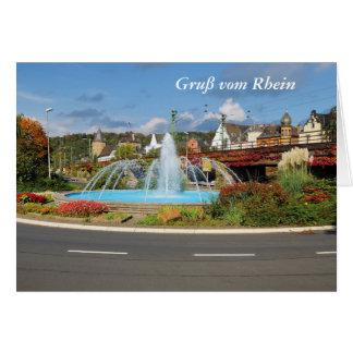 Carte de salutation Linz au Rhin