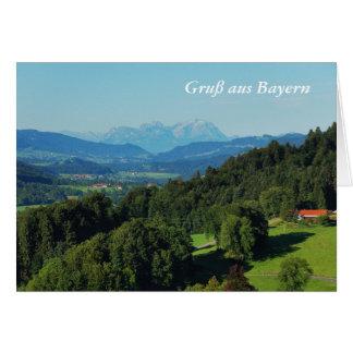 Carte de salutation panorama des Alpes avec des