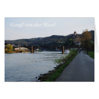 Carte de salutation salutation Cochem de Moselle