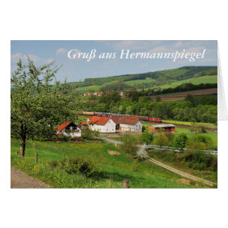 Carte de salutation salutation des Hermann-miroirs
