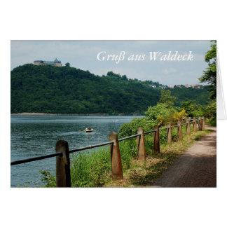 Carte de salutation salutation des Waldeck Edersee