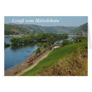 Carte de salutation salutation du Rhin moyen