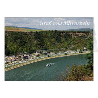 Carte de salutation salutation du Rhin moyen au