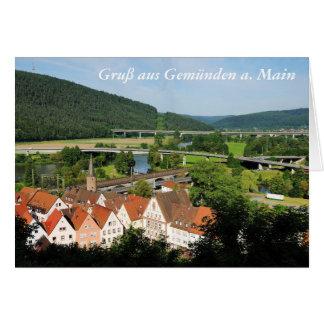 Carte de salutation salutation Gemünden A. Main