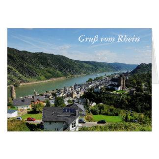 Carte de salutation salutation Oberwesel de Rhin