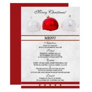 Carte de scintillement élégante de menu de Noël Carton D'invitation 12,7 Cm X 17,78 Cm