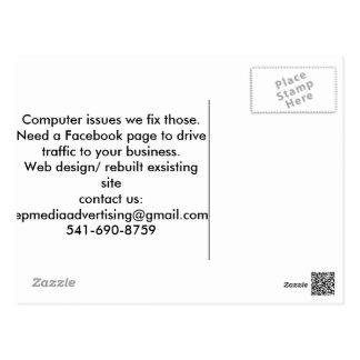 Carte de service aux entreprises cartes postales