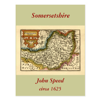 "Carte de ""Somersetshire"" le comté de Somerset"