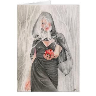 Carte de sorcière de conte de fées
