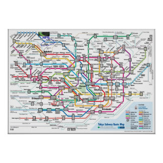 Carte de souterrain de Tokyo