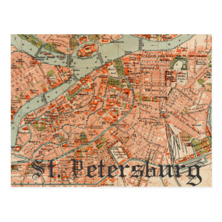 Carte de St Petersburg