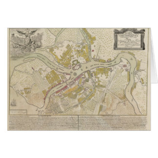 Carte de St Petersburg Russie, 1737