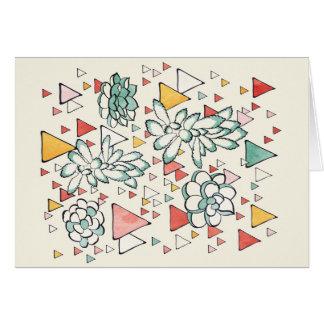 Carte de Succulent et de triangles