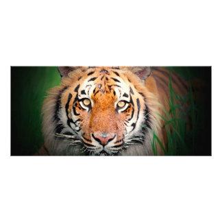 Carte de support de tigre double carte personnalisée