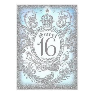 Carte De sweet sixteen prince il était une fois