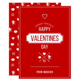 Carte Carte de symboles de Valentine de heureuse