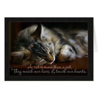 Carte de sympathie de chat d'animal familier,