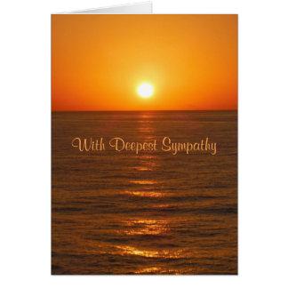 Carte de sympathie de coucher du soleil d'océan