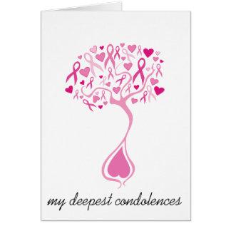 Carte de sympathie/perte pour le cancer du sein