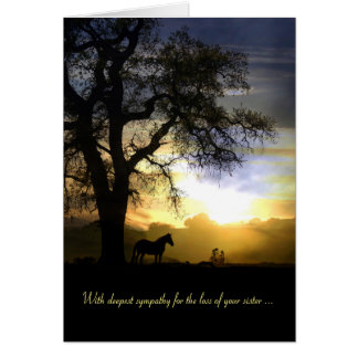 Carte de sympathie pour la perte de cheval et de