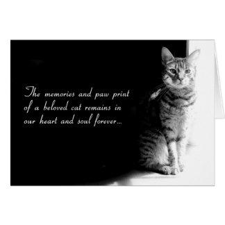 Carte de sympathie pour la perte d'un chat aimé