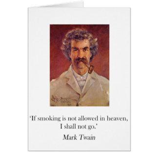 Carte de tabagisme de tuyau de Mark Twain