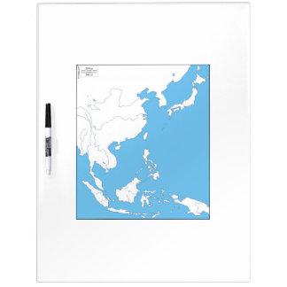 Carte de tableau blanc de l'Asie de l'Est Tableau Blanc Effaçable À Sec