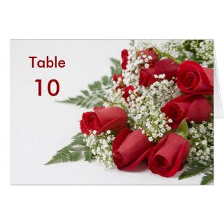 Carte de Tableau de bouquet de roses rouges