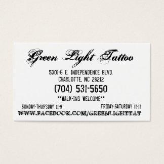 Carte de tatouage de feu vert