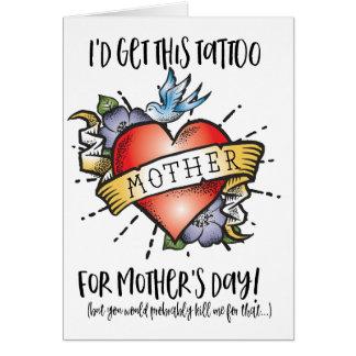Carte de tatouage du jour de mère