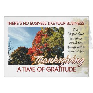 Carte de thanksgiving de client