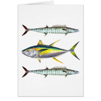 Carte de thon et de Wahoo de truite saumonnée