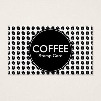 carte de timbre de centre de café