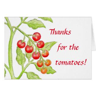 Carte de tomate de Merci