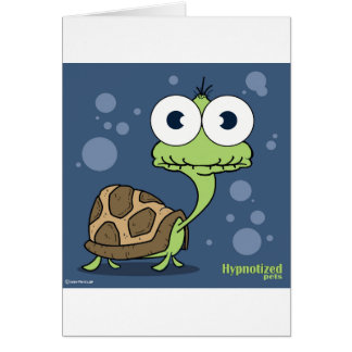 Carte de tortue, enveloppes blanches standard