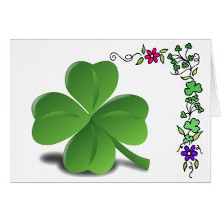Carte de trèfle de shamrock du jour de St Patrick