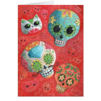 Carte De trois jours des crânes morts