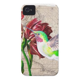 Carte de tulipe de colibri étui iPhone 4