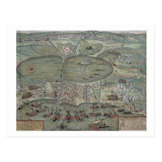 "Carte de Tunis, de ""Civitates Orbis Terrarum"" par"