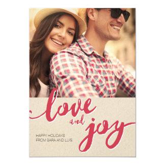 Carte de vacances : Amour et joie - conception