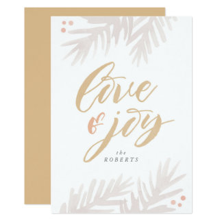 Carte de vacances d'amour et de joie de brosse de