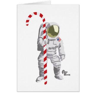 Carte de vacances d'astronaute