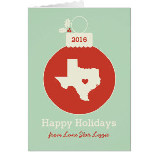 Carte de vacances de coeur de babiole de Noël