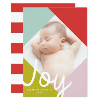 Carte de vacances de joie de bloc de couleur